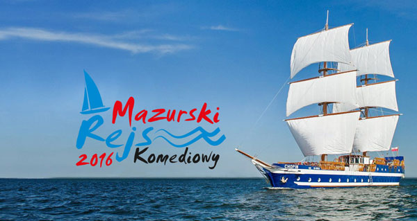 Projekt logotypu Mazurskiego Rejsu Komediowego